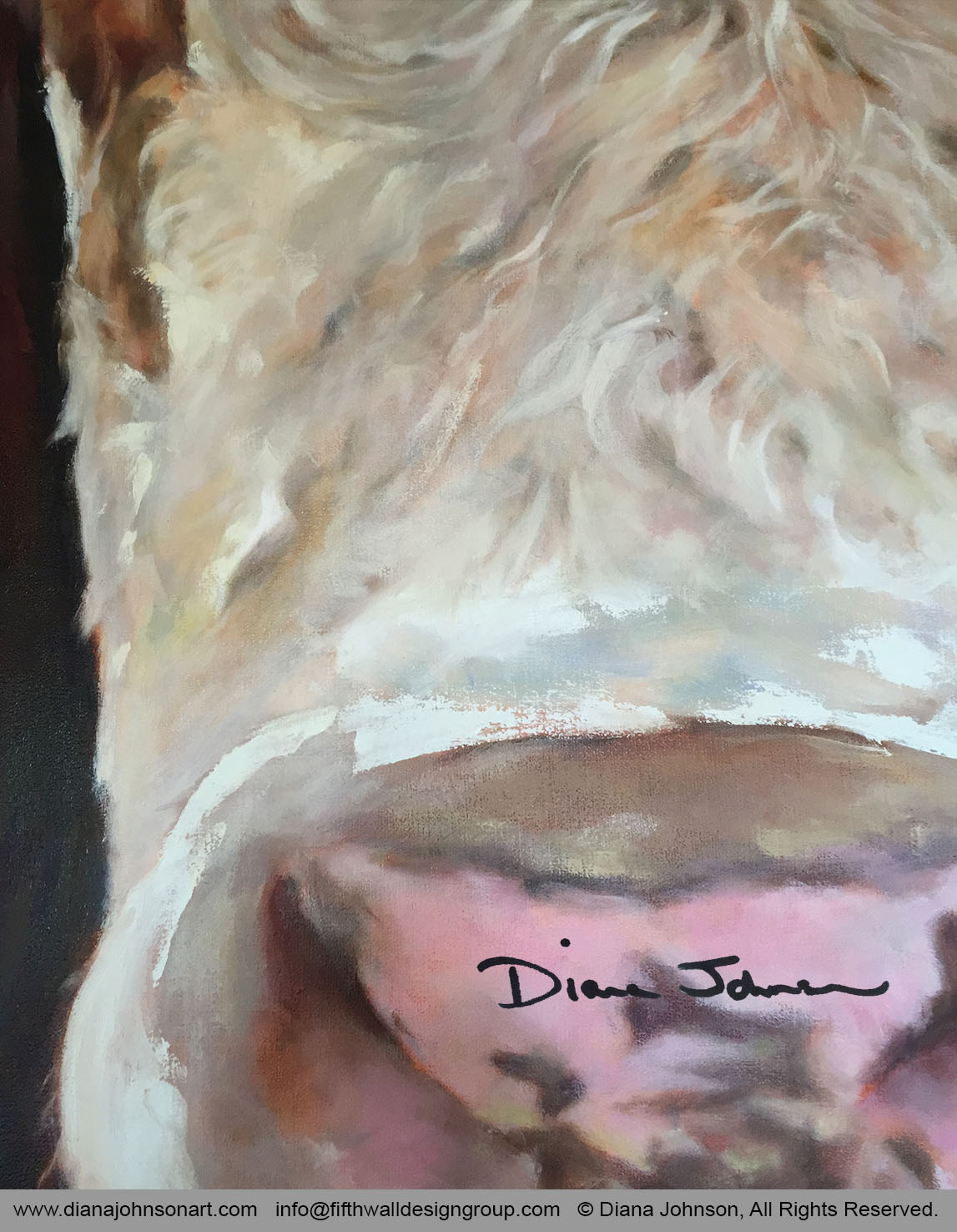 Amanda the Cow, detail. By Diana Johnson
