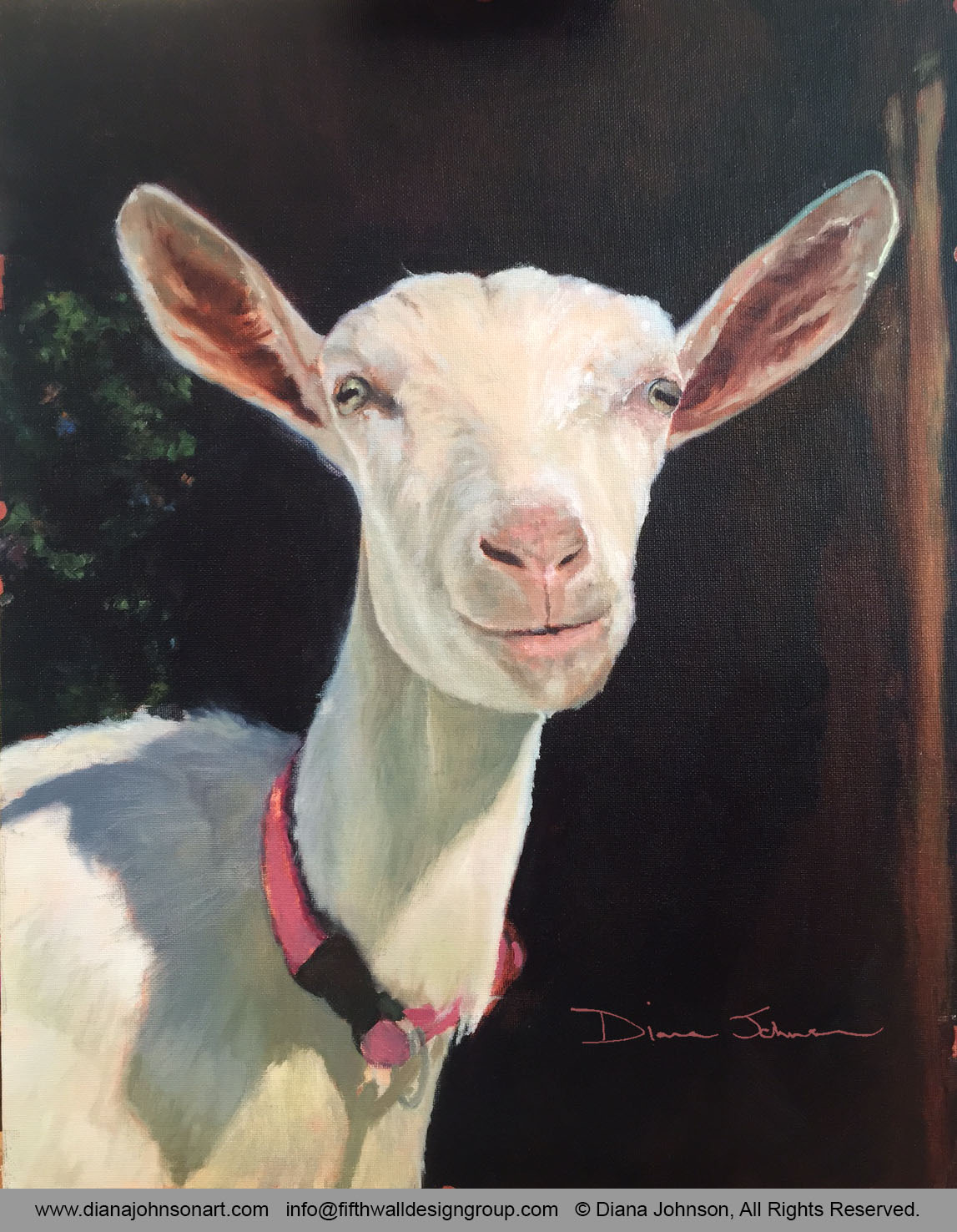 Happy Goat Painting by Diana Johnson